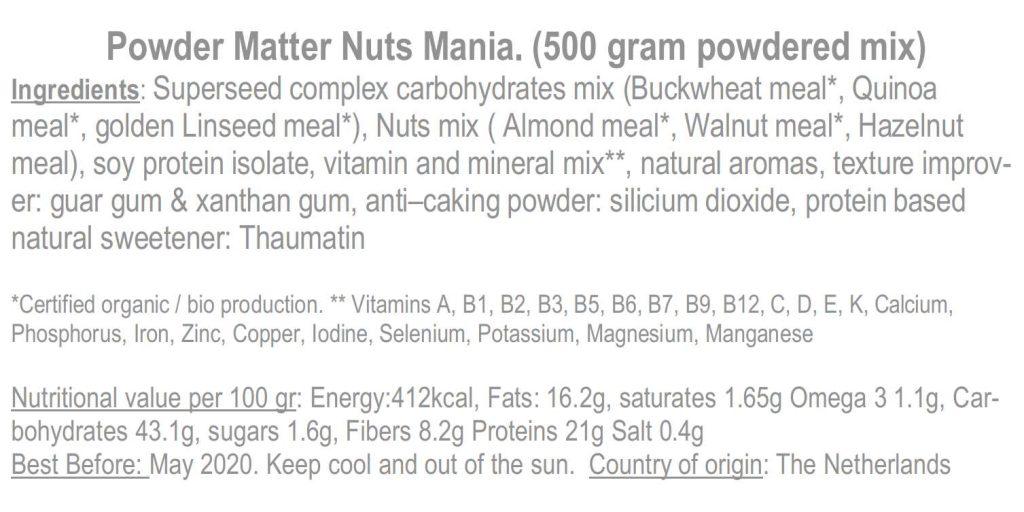 Backlabel Nuts Mania